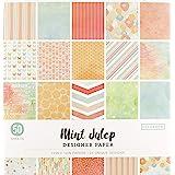 "Colorbok Designer Paper Pad, 12"" x 12"", Mint Julip"