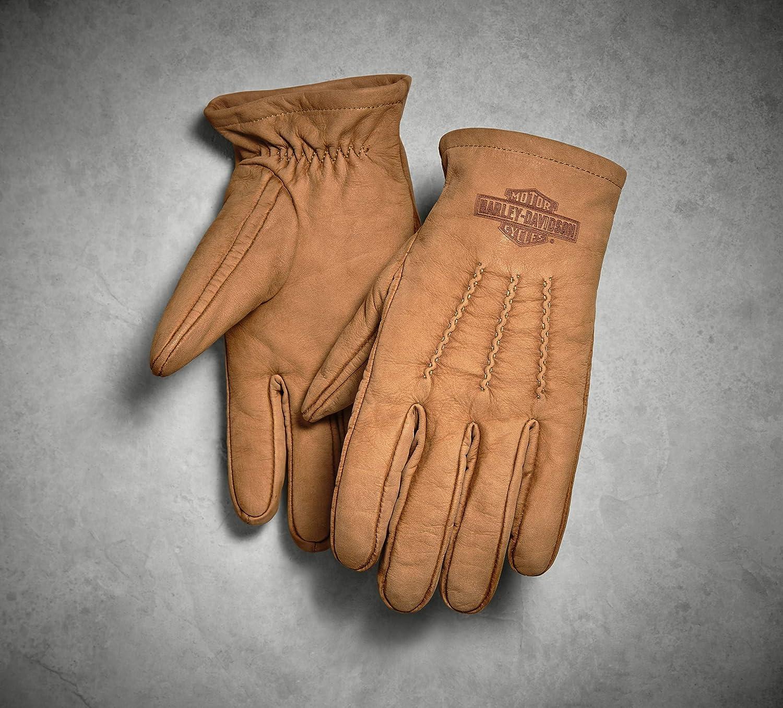 Brown Harley-Davidson Official Mens Peshtigo Leather Gloves