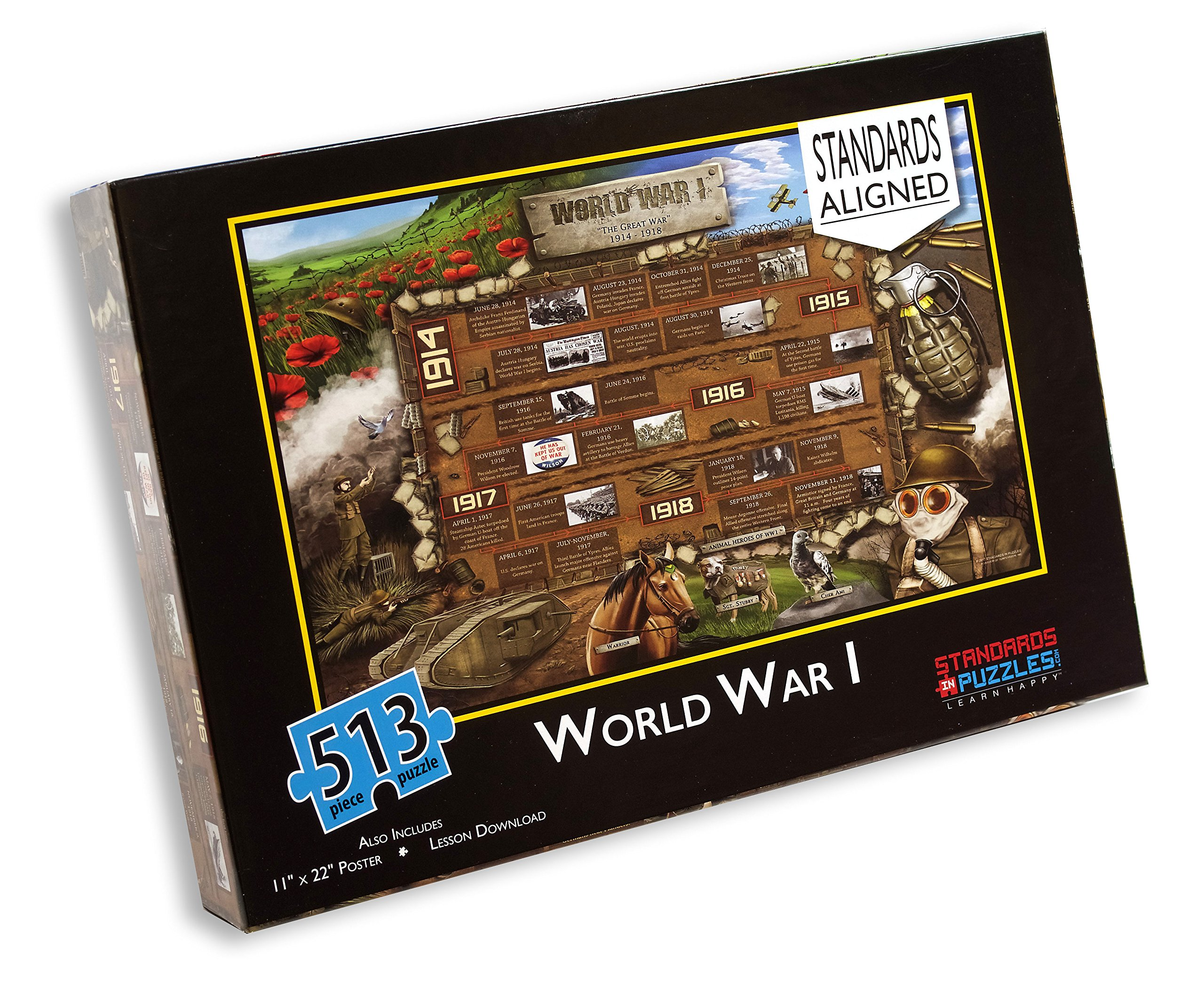 WW1 Standards-Based Jigsaw Puzzle and Lesson Plan