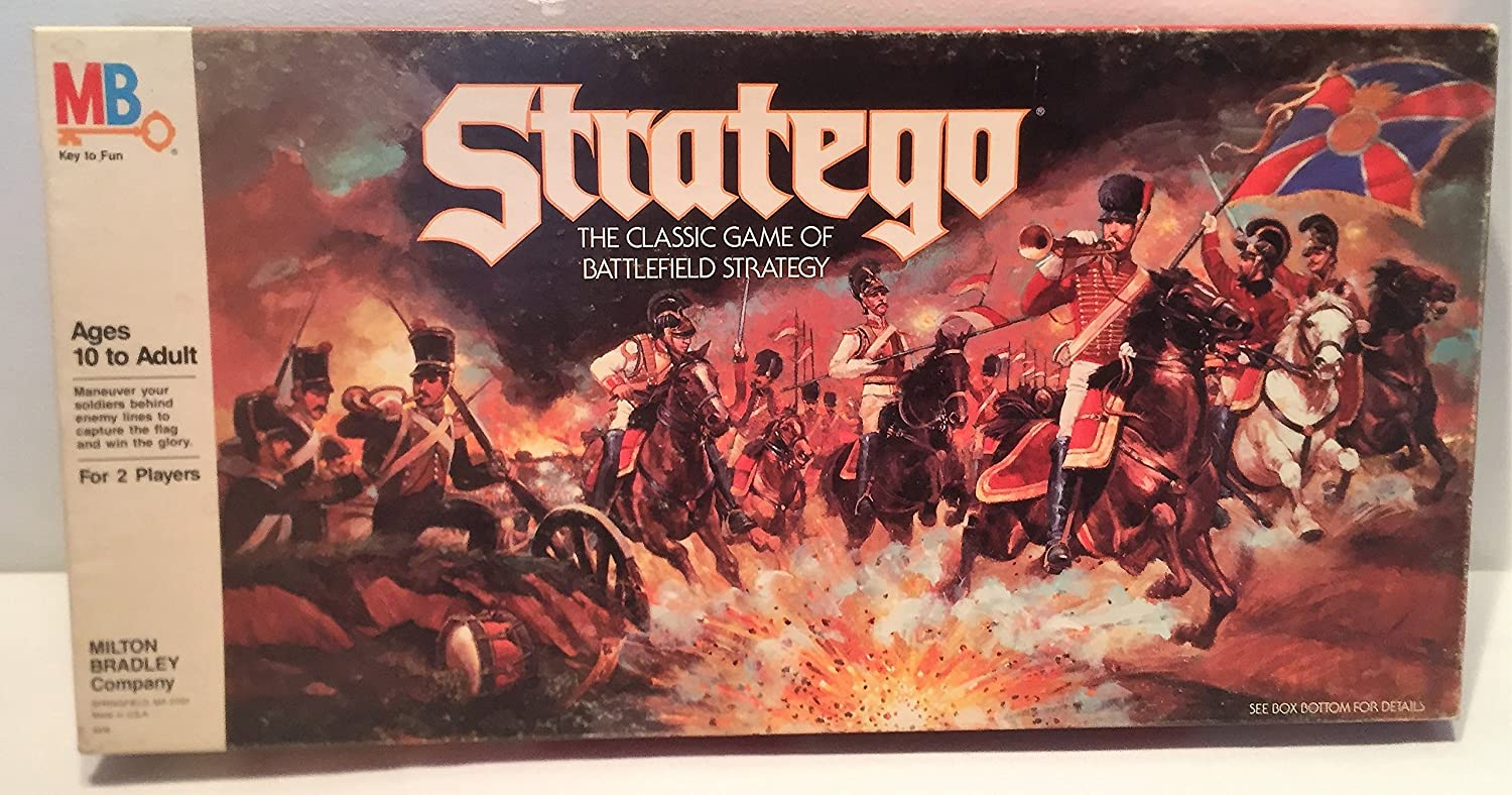 Stratego - The Classic Game of Battlefield Strategy 1986 Edition ...
