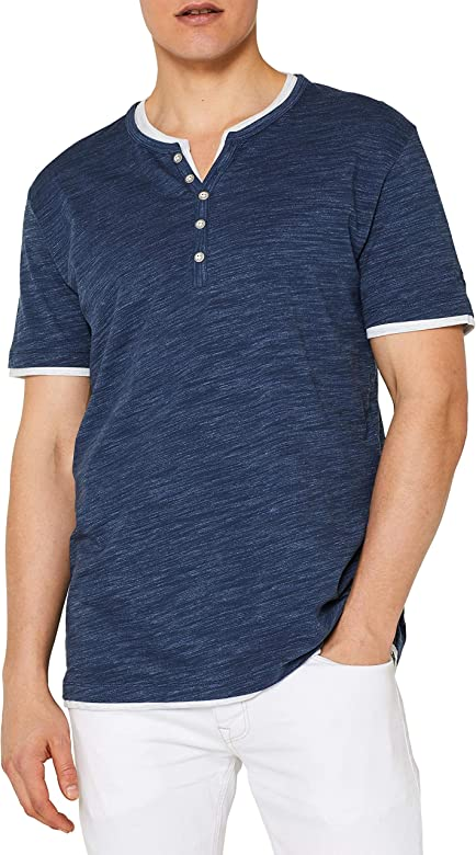 Esprit 059EE2K009 Camiseta, Azul (Navy 400), S para Hombre: Amazon ...