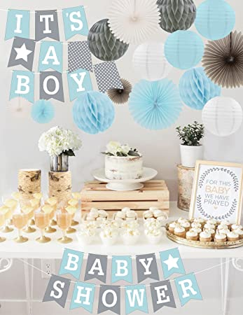 Amazon Premium Baby Shower Decorations For Boys Kit Its A