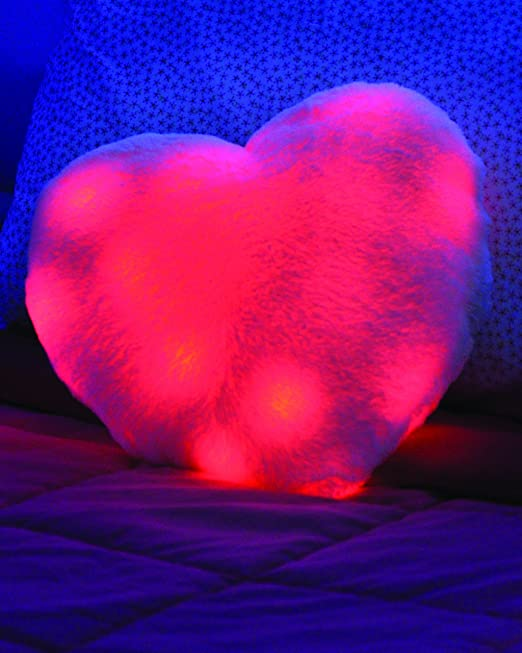 Amazon.com: Luz brillante Almohada Corazón Que Late, Rosa ...