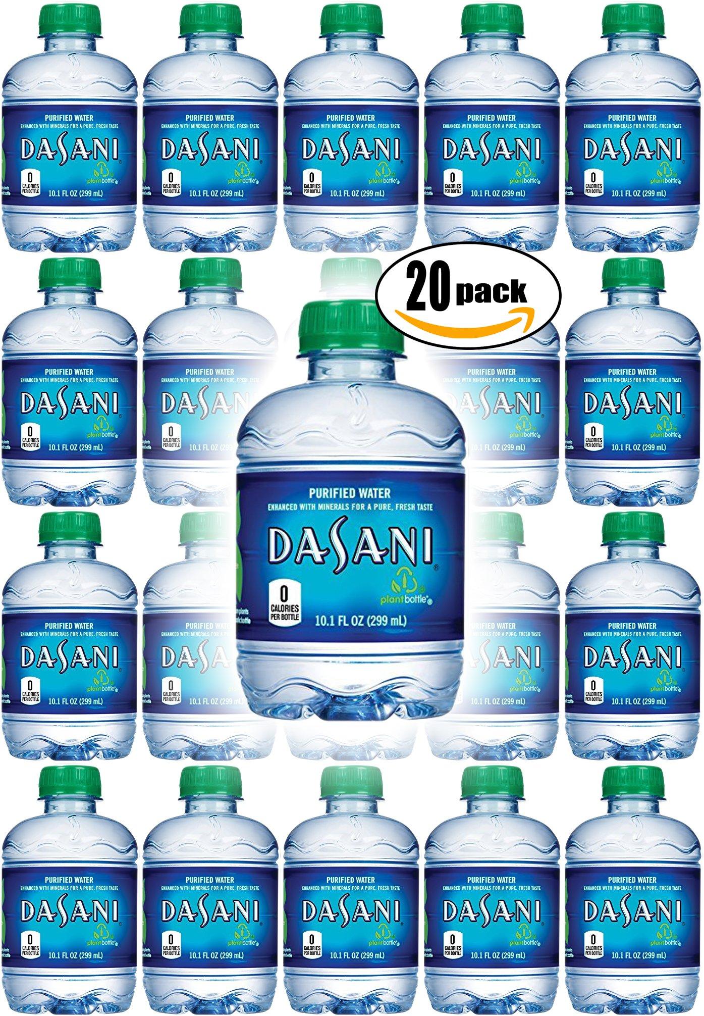 Dasani Purified Water, 10 Fl Oz (Pack of 20, Total of 200 Fl Oz) by Dasani