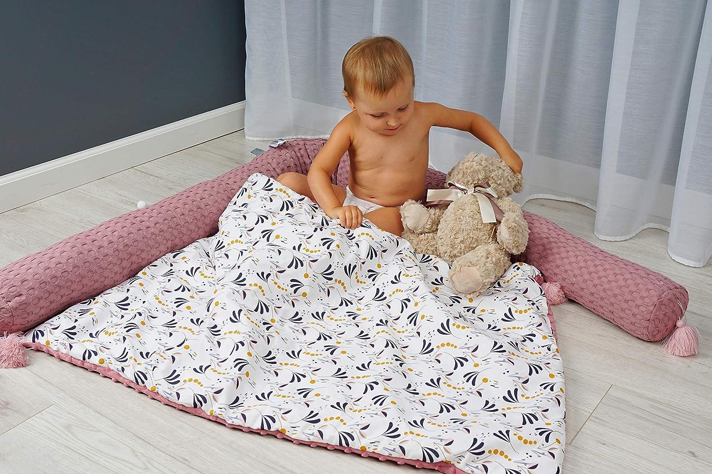 Serpent Lit Rouleau MoMika Lit Bumper Serpent 100/% coton Grey le berceau ou un lit Quilt style 20 cm pour lit