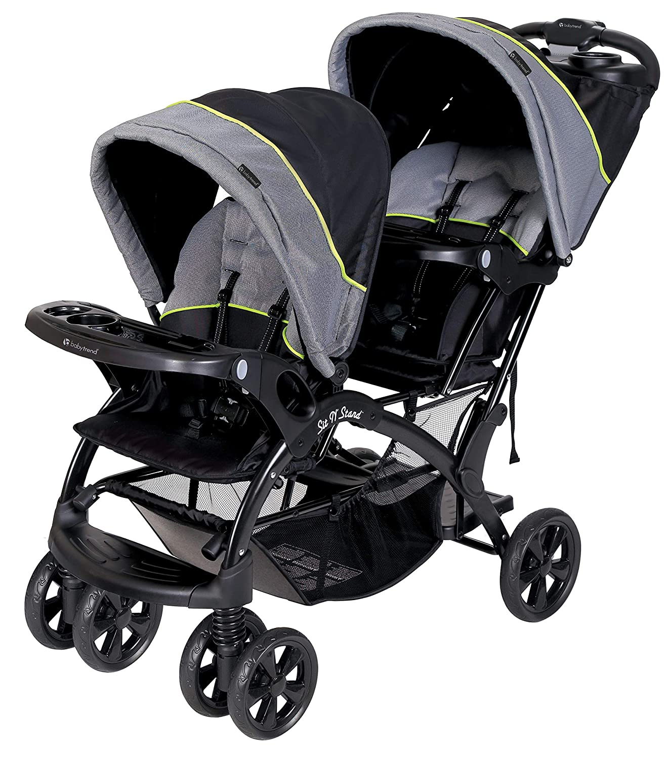 Baby Trend Sit N' Stand Double Stroller - Pistachio