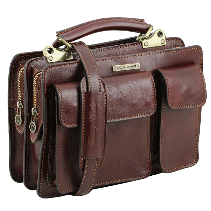 81412704 - TUSCANY LEATHER: TANIA klein - Damen Leder Handtasche, braun Tuscany Leather
