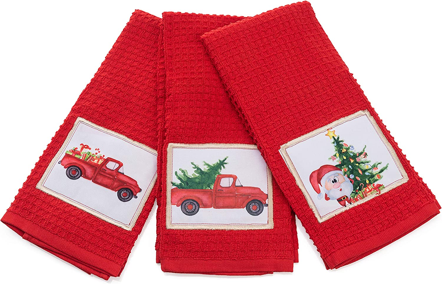 Christmas Kitchen Towels, Decorative Holiday Christmas Dish Towels Set of 3, Perfect Home & Kitchen Gift: Home & Kitchen