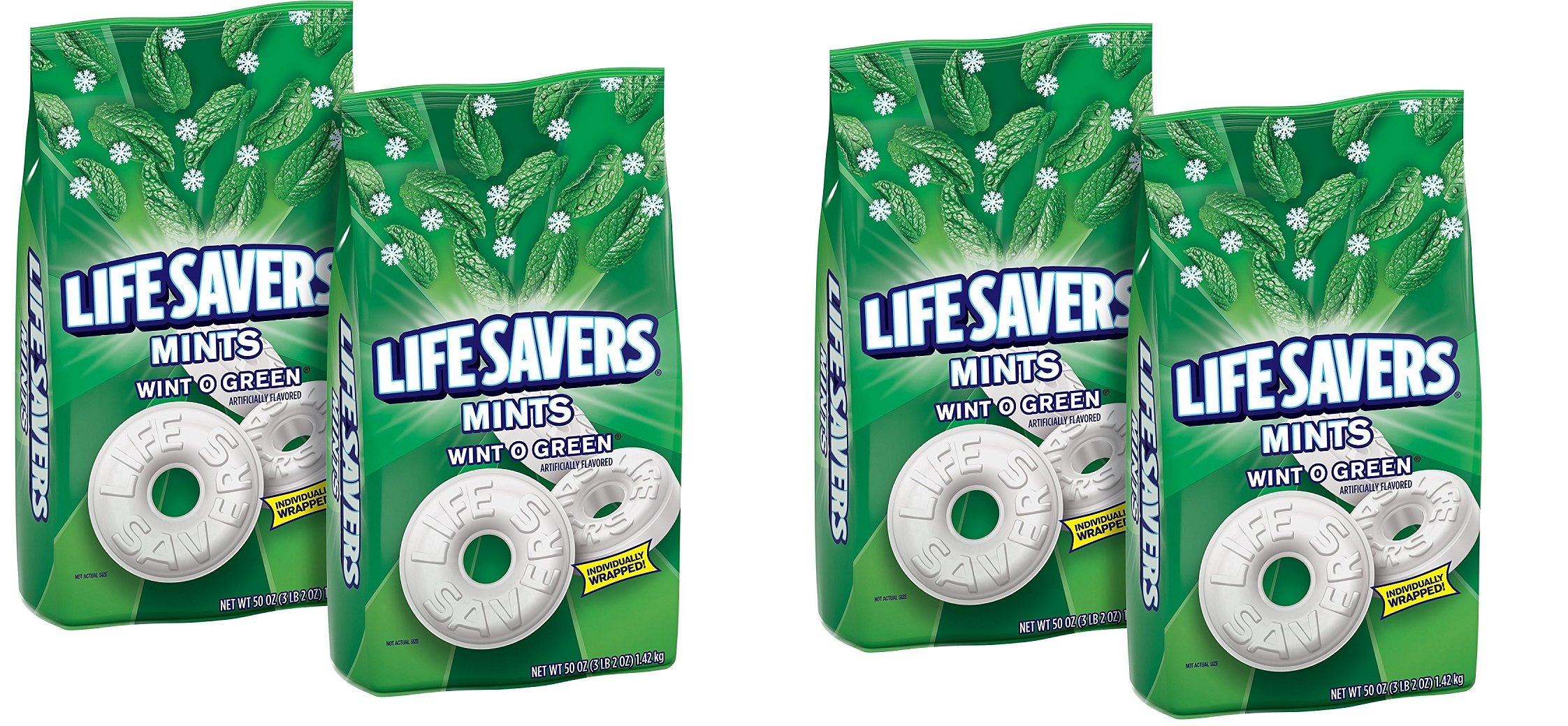 LifeSavers Hard Wint-O-Green, 50-Ounce Bags, 50 ounce, VkthmS Pack of 4 by LifeSavers Hard