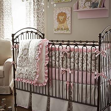 Amazon.com: Carrusel diseños rosa y gris pardo Leopard cuna ...
