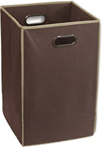 Simple Houseware Foldable Closet Laundry Hamper Basket, Brown