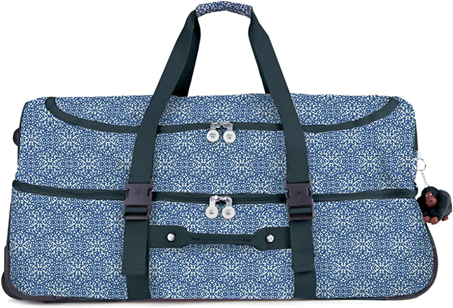 82661fedb68c Amazon.com  Kipling Teagan Large Printed Rolling Luggage Frosted ...