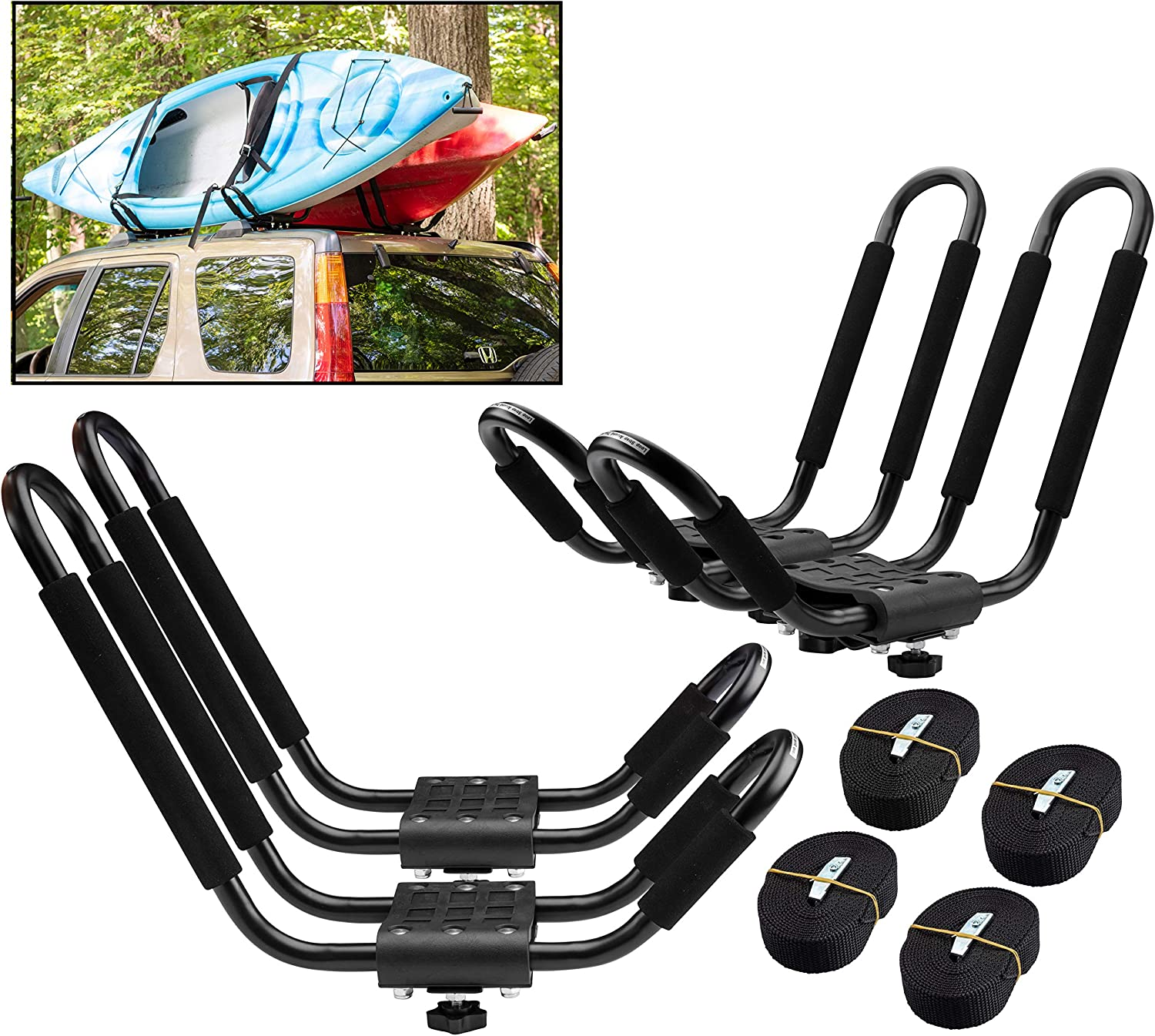 PaddleSports+ Kayak Roof Rack Sets for Two and Cars - Sales results No. 1 SUVs Philadelphia Mall