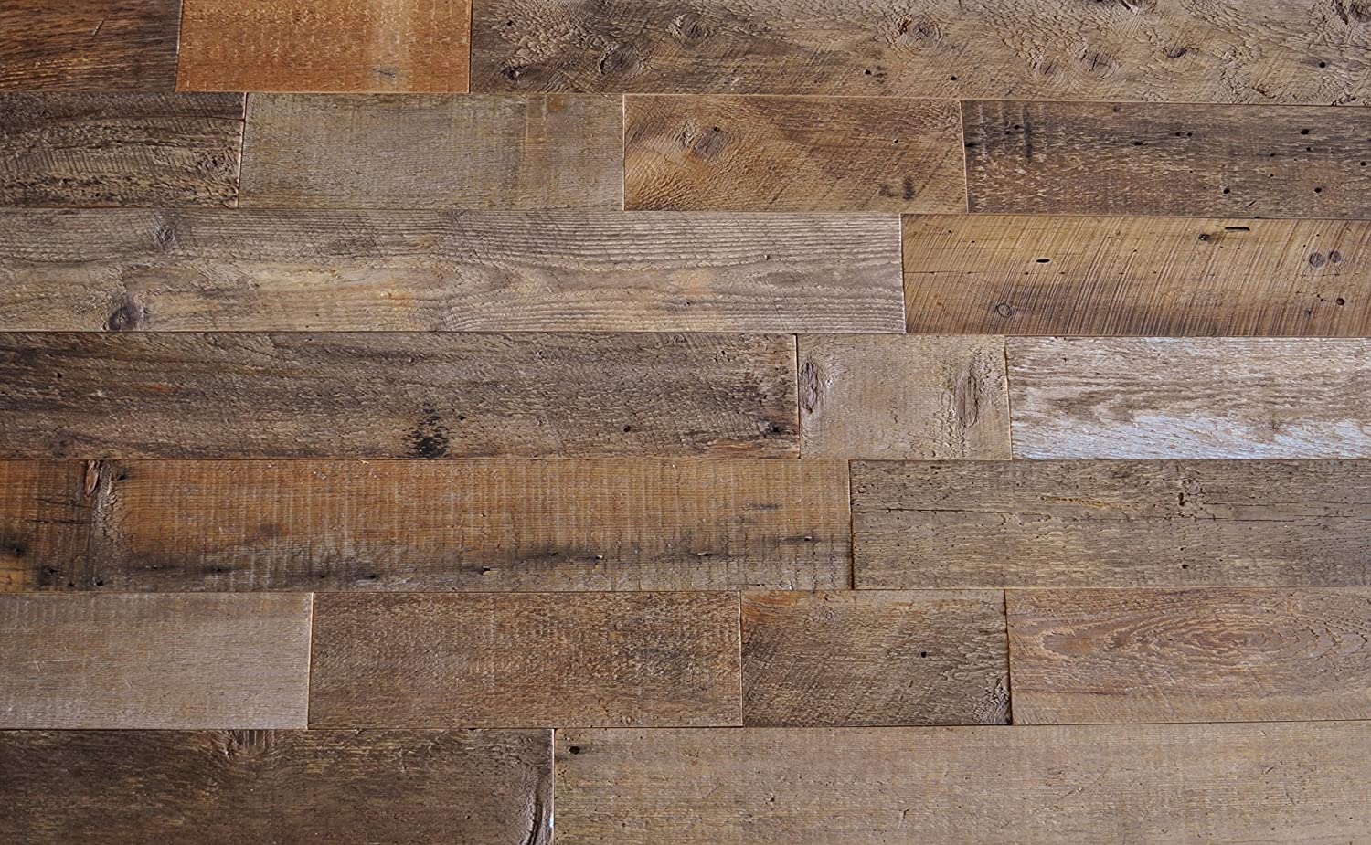 EAST COAST RUSTIC Reclaimed Barn Wood Wall Panels - Easy Install Rustic Wood DIY Wall Covering for Feature Walls (20 Sq Ft - 3.5 Wide, Brown Natural)