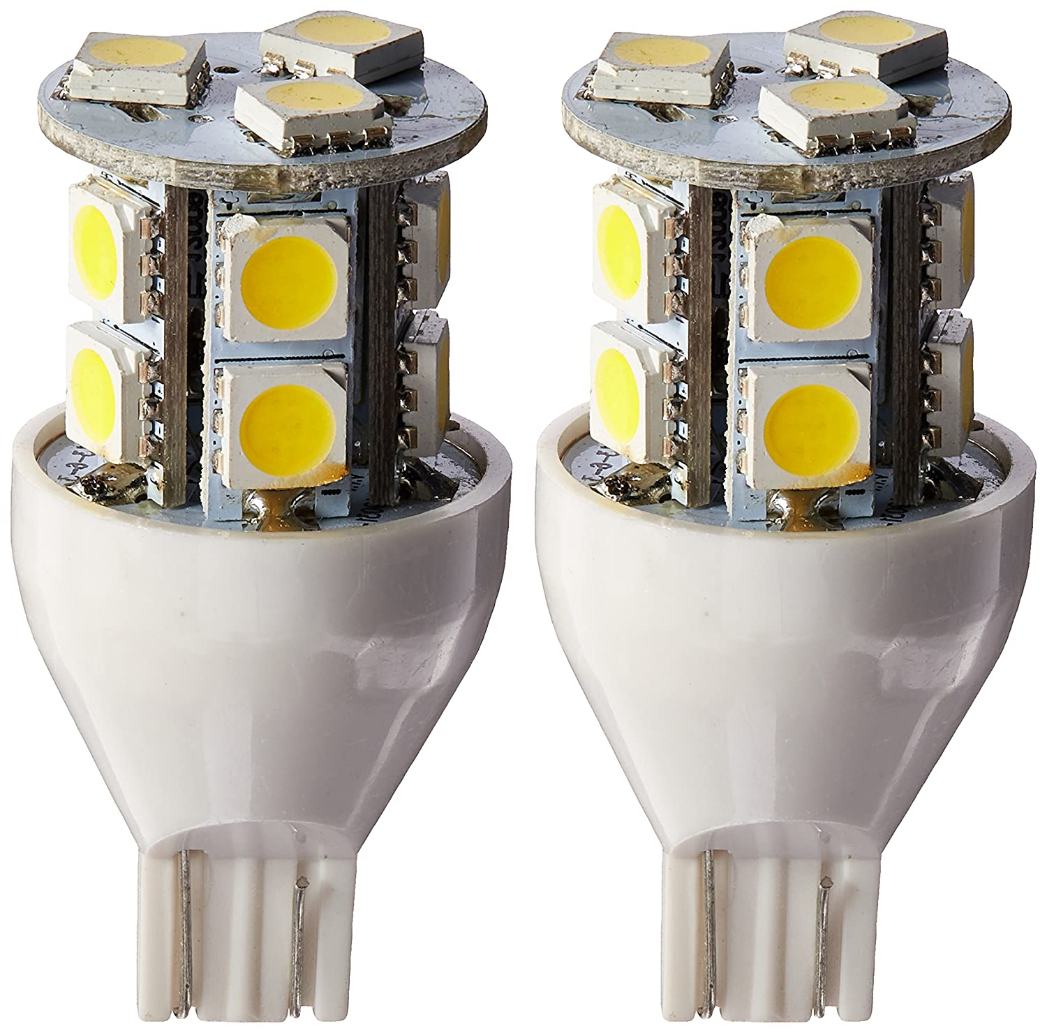 Gold Stars 92111802 Natural White LED Replacement Light Bulb (921/T15 Wedge base 120 Lumens 12v or 24v)