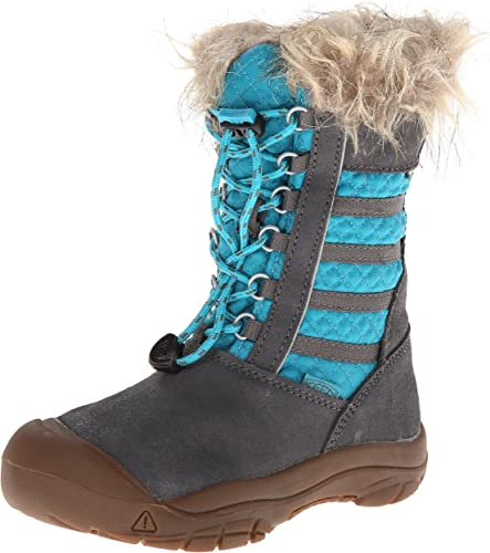 KEEN Girls Wapato Waterproof Fur Winter Boots Toddler//Little Kid