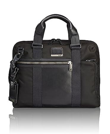 fae2c302a330 Amazon.com | TUMI Alpha Bravo Charleston Compact Laptop Brief Briefcase -  14 Inch Computer Bag for Men and Women, Black | Briefcases