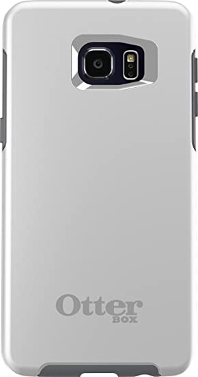 OtterBox SYMMETRY SERIES Case for Samsung Galaxy S6 EDGE+ - Frustration Free Packaging - GLACIER (WHITE/GUNMETAL GREY)
