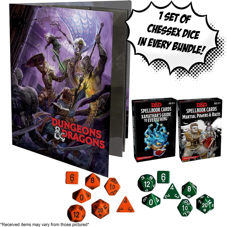Dungeons & Dragons Xanathar and Martial Races Spellbook Cards + Random D&D Character Folio también Incluye Juego de 7 Dados al Azar.: Amazon.es: Juguetes y juegos