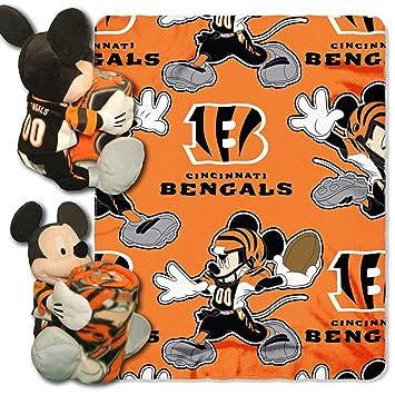 Northwest Nfl Mickey Mouse Oreiller Avec Ensemble Couverture Couvre