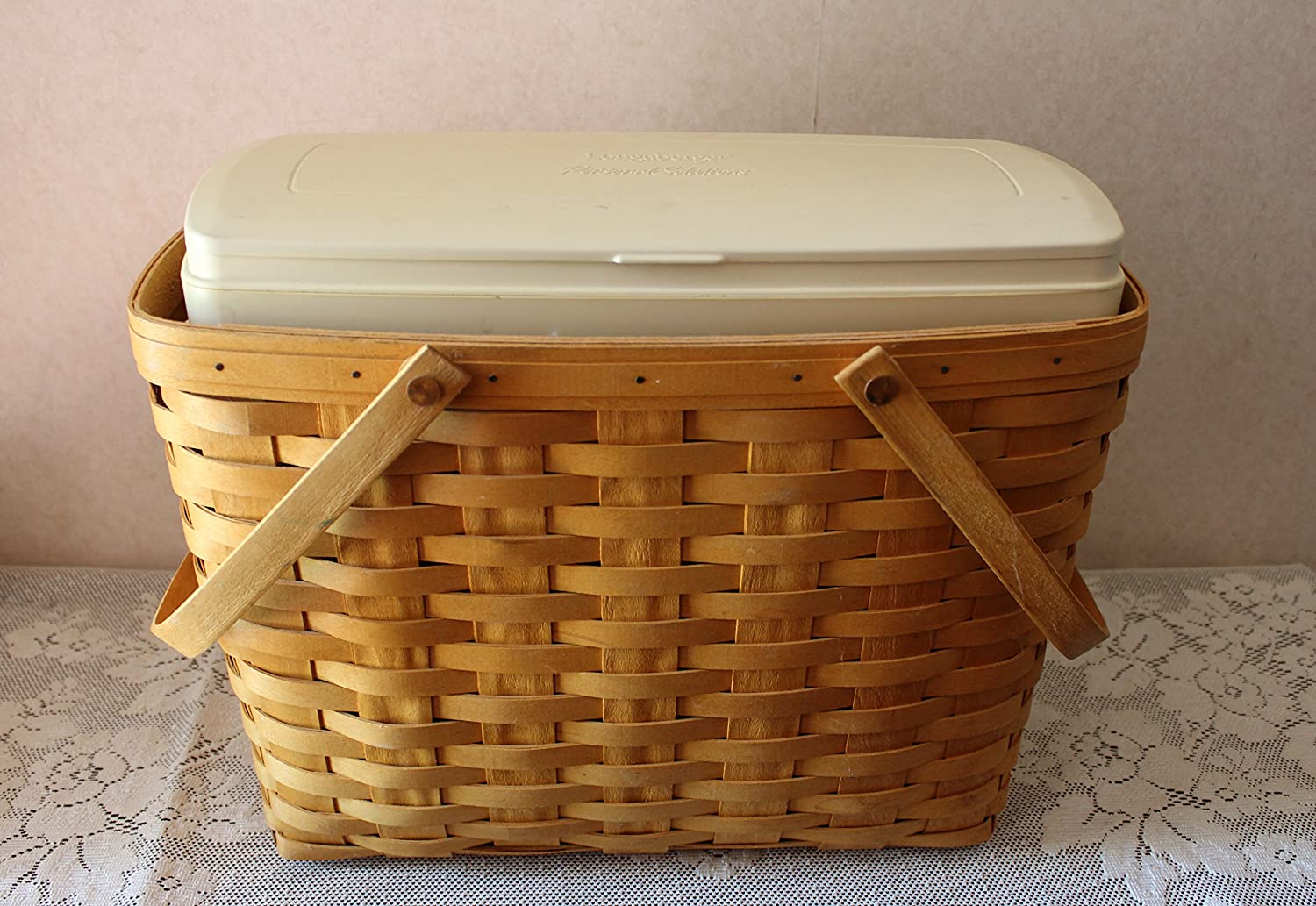 Longaberger 1999 Magazine Basket and Personal Solutions Organizer Insert