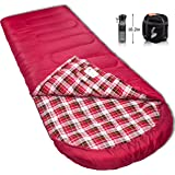 Reisen 0 Degree Celsius Cold Weather Sleeping Bag, Adult Lightweight Compact Sleeping Bags for Camping/Backpacking/Hiking 30°F-50°F