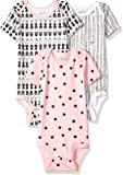 Lamaze Baby-Girls Organic 3 Pack Shortsleeve Bodysuits Layette Set - Pink