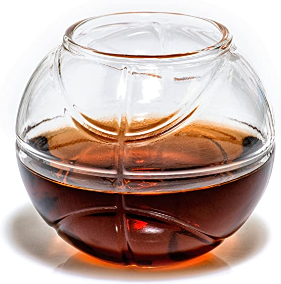 Basketball Whiskey Glass
