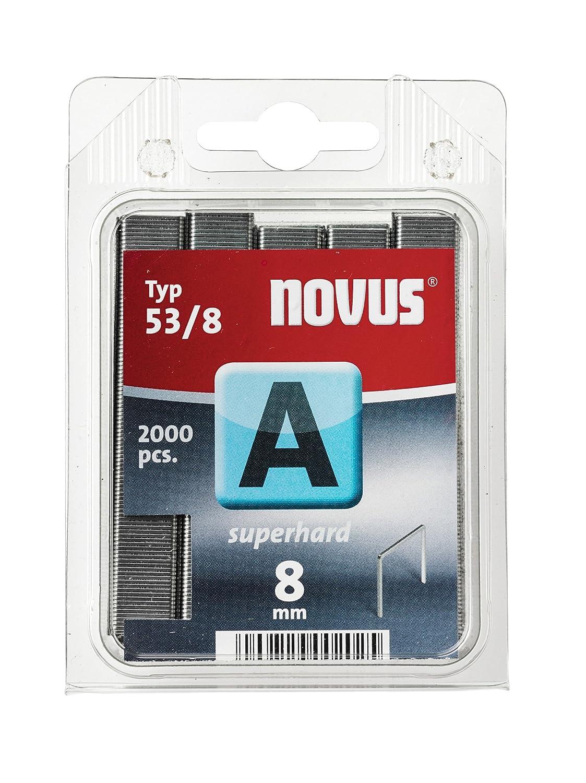 Novus 042-0518 Carton de 5000 Agrafes fines 53//10 Renforc/ées Rouge