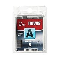 "Novus Feindrahtklammern 8 mm ""superhart"", 2000 Klammern vom Typ 53/8 superhart, Heftmittel aus robustem Stahldraht"