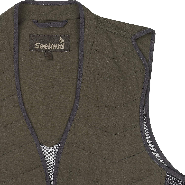 Seeland Materiale in Rete Traspirante per Gli Sport di tiro Gilet Leggero da Uomo con Grandi Tasche per Le cartucce