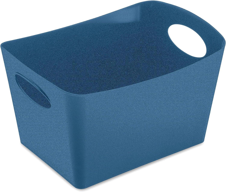 Koziol Boxxx S 5745675 - Caja de almacenaje (plástico termoplástico, 1 L), Color Azul Oscuro: Amazon.es: Hogar