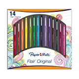 Paper Mate Flair Stylo Feutre Pointe Moyenne Assortiment, Lot de 14