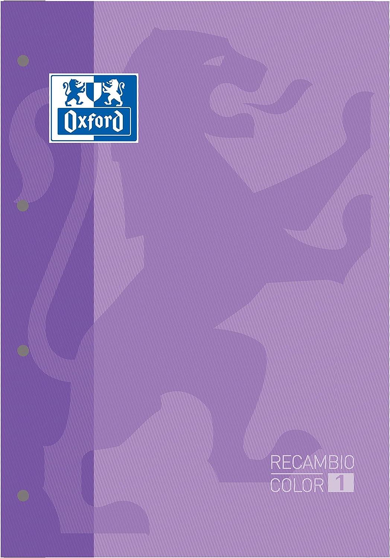 Oxford Recambio color Malva Oxford A4 .80 hojas, cuadrícula 5x5