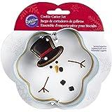 Wilton 2308-5073 2-Piece Christmas Melted Snowman Metal Cookie Cutter Set