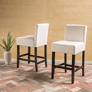 Outstanding Christopher Knight Home Lopez Beige Fabric Counter Stool Set Of 2 Ncnpc Chair Design For Home Ncnpcorg