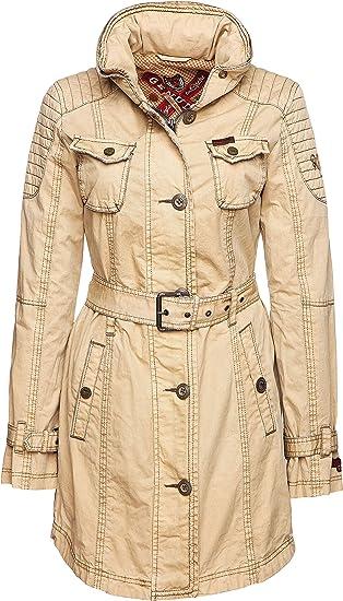khujo damen mantel beige