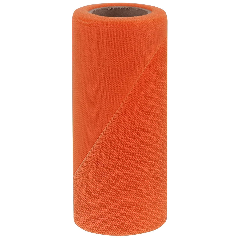 6-Inch by 100-Yard Lemon Falk Fabrics Tulle Spool