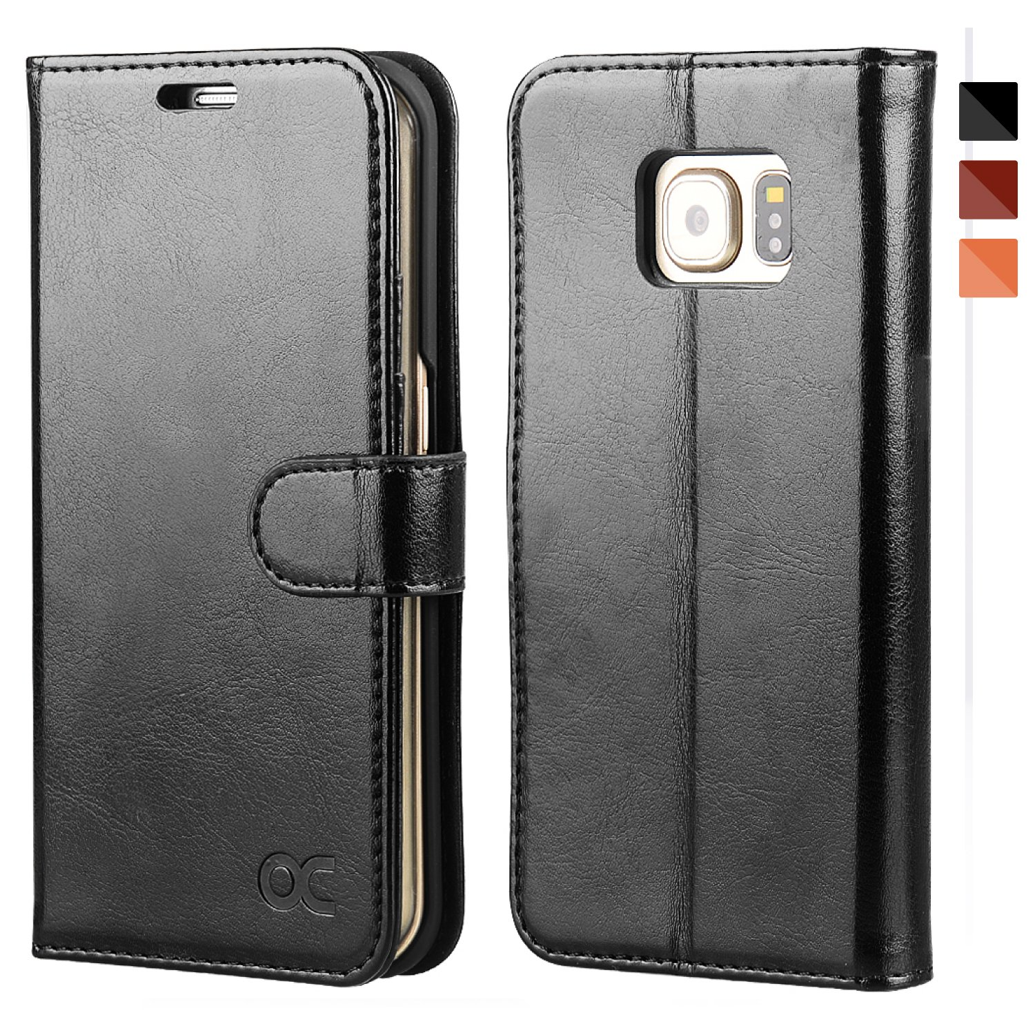 info for 59e8b d939f OCASE Samsung Galaxy S6 Edge Case Leather Wallet Case For Samsung Galaxy S6  Edge Devices - Black