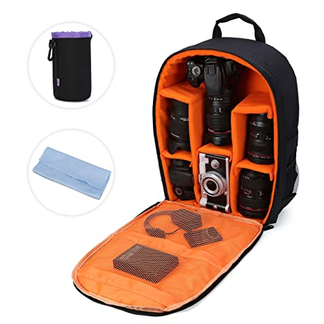 Capable Edal Water-resistant Dslr Padded Insert Case Bag Waterproof Zipper Removable Partition Camera Bags Consumer Electronics