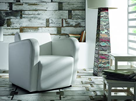Due-home Sillon butaca Fija, Color Blanco