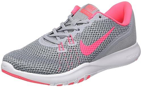 7d70dba91d64 Nike Women s Flex Trainer 7 Wolf Grey Racer Pink Stealth Training Shoe 10  Women US