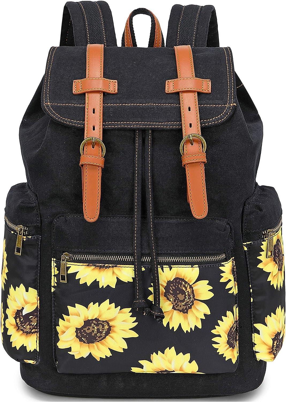Girls School Backpack Women College Bookbag Lady Travel Rucksack 15.6Inch Laptop Bag