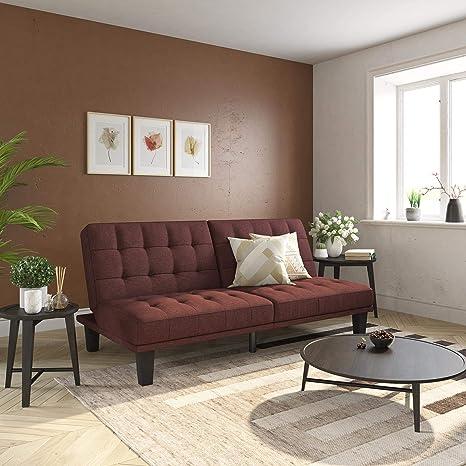 Amazon Com Dhp Dexter Futon Lounger Convertible Sofa Bed Couch Berry Futon Furniture Decor