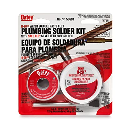 Oatay Plumbing Solder Kit, 1/4 lb solder and 1.7 oz flux - Power Soldering Accessories - Amazon.com