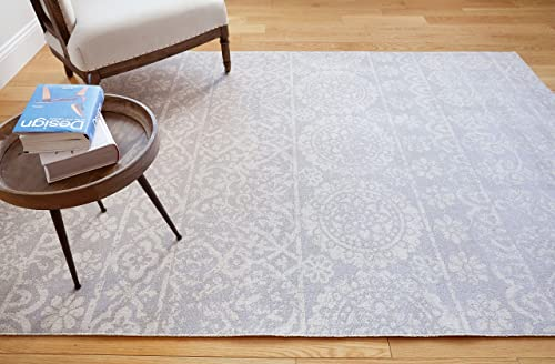 Well Woven Signora Grey Vintage Floral Tile Design Short Pile Kilim-Style Modern 8×11 7 10 x 9 10 Area Rug Multicolor Pattern