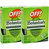 OFF! Botanical Towelettes Plant Based Repellent, 8 Count, (Pack of 2)