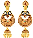 Handicraft Kottage Gold Plated Drop Earrings for Girls (Golden) (HK-Earring-036)