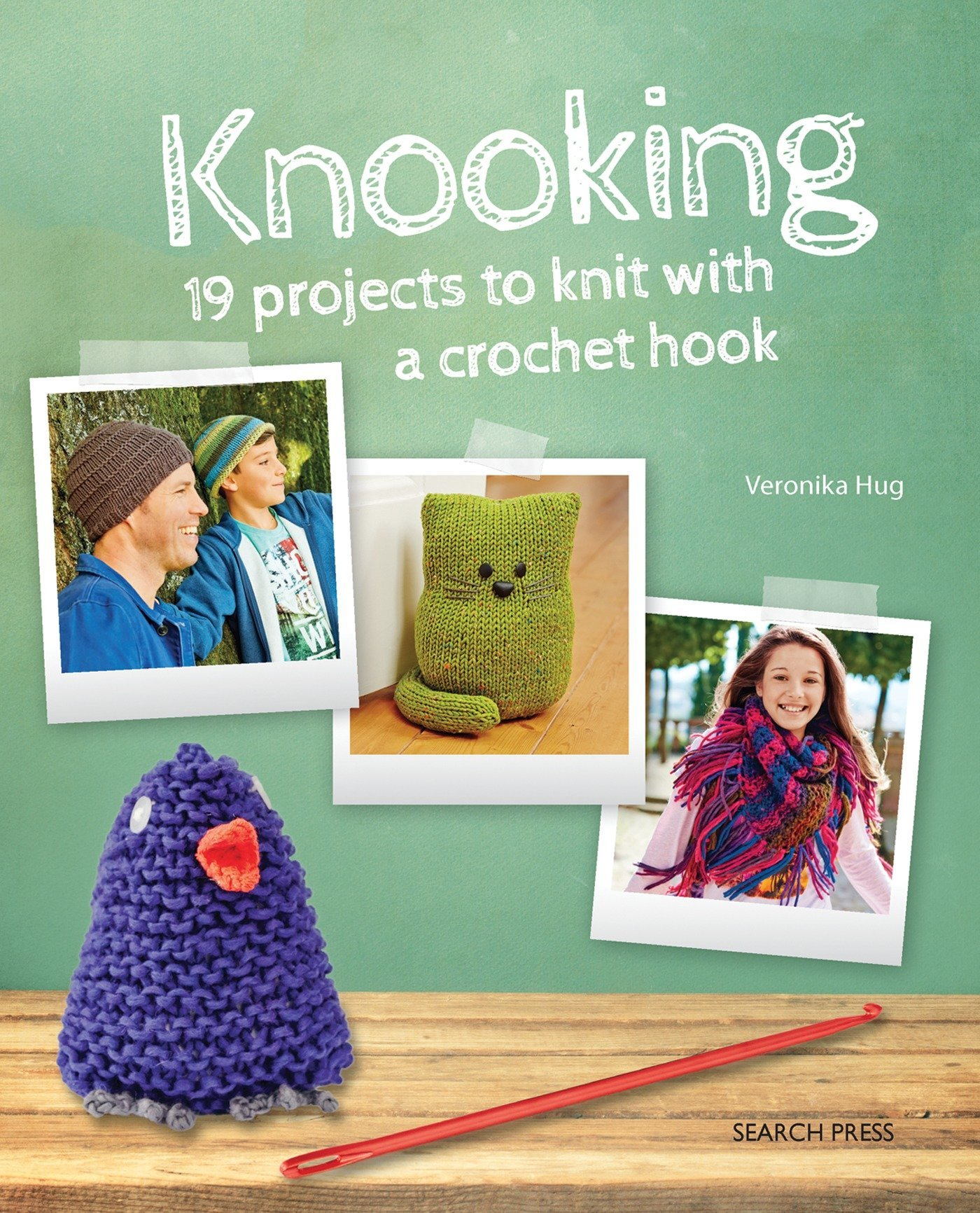Free Crochet Paperback Book Cover Pattern ~ Knooking knitting with a crochet hook veronika hug