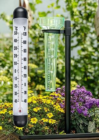 Lifetime Garden Wetterstation 2 In 1 Wetterset Mit Regenmesser Und